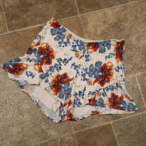 Free People women's size 0 floral flowy shorts